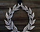 Laurel Wreath Pewter Pendant
