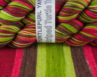 Poison Apple - Hand-Dyed Self Striping Sock Yarn