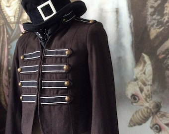 Steampunk Jacket gothic boho marching band military sgt pepper style empire waist Jane austen size 36 chest