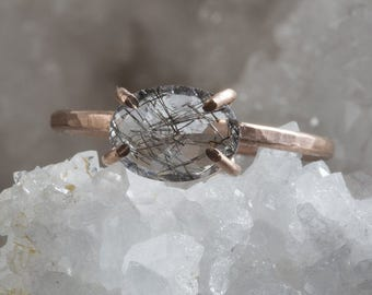 Tourmaline in Quartz Ring