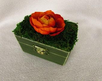 Rustic Fall Autumn Halloween Wedding Ring Bearer Pillow Alternative Ring Box