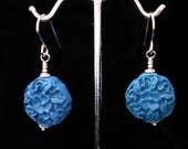Blue Floral Cinnabar Earr...