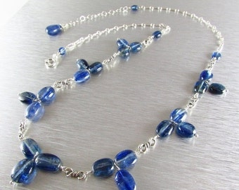 25% Off Kyanite and Sterling Silver Adjustable Necklace