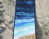 Beach Scene Fiber Art Wallhanging