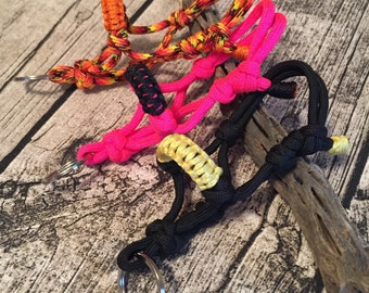 """YOU PICK! Horse """"Rope"""" Halter Keychain Over 90 Colors to choose from Custom Made to Order - Solid Colors"""