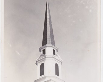 original 8 x 10 black and white photo. of a church steeple