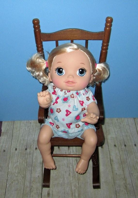 Baby Alive Go Bye Bye Doll Clothes Aqua Hearts Set Fits