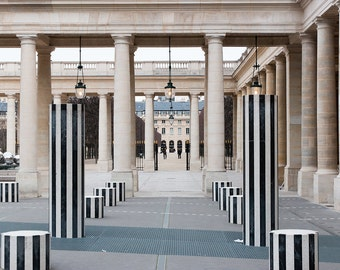 Paris Photography, Palais Royal, Louvre, Paris France, Paris Gardens, decor, Nature, Black and White, Parisian, French Decor