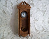 Miniature, one inch scale, non working, Wall Clock