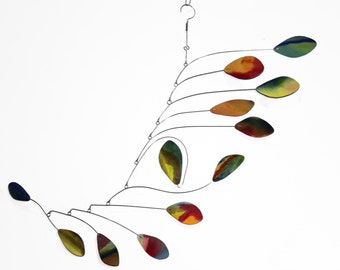 Calder Inspired Mobile, Kinetic Art, Housewarming Gift, Positive Flow Style, Kinetic Mobile, Mobile for your Home or Business READY TO SHIP