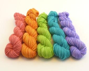 Mini Skein Set - Jest SW Merino/Nylon Sock - 50g/200yd - Neon
