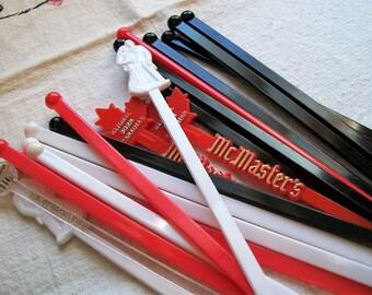 Vintage Swizzle Sticks, Drink Stirrers, Summertime Drink Sticks