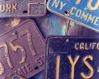 License Plates, Fine art Photography, Print, Photo, Vintage, Retro, Auto, Road Trip, Car Art, Garage, Man Cave, letters. numbers, travel,