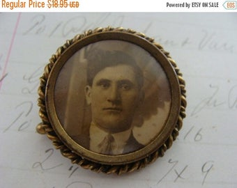 ONSALE Rare Antique Edwardian Victorian Portrait Brooch