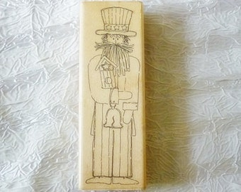 Uncle Sam Americana Rubber Stamp by JRL Design  NEW