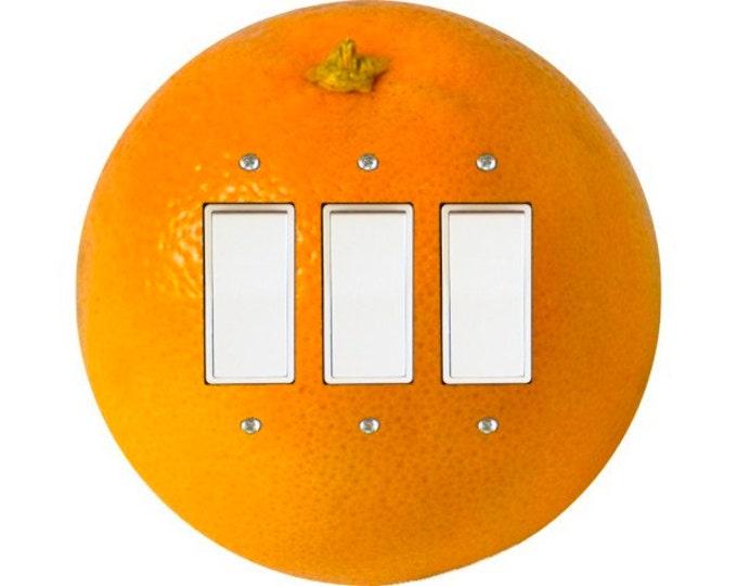 Orange Fruit Triple Decora Rocker Switch Plate Cover
