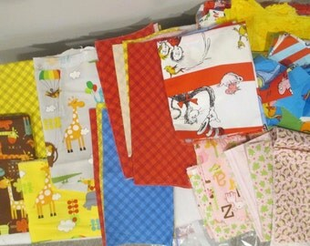 Destash Kids Fabric Bundle - Dr Suess - Elephants - Giraffes