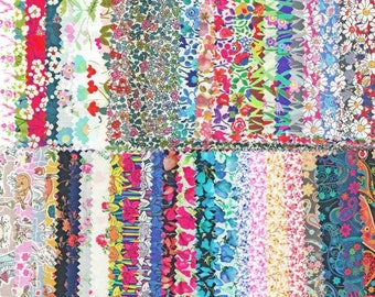 SALE Liberty Tana Lawn Fabric 48 Sample Pieces 50% 0FF