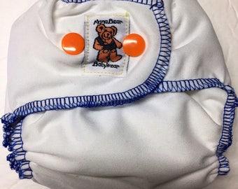 MamaBear Quick Dry Newborn/Preemie Diaper - AIO - Fresh White