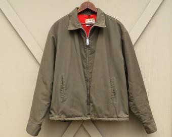 60s vintage Brown Mechanic Jacket  / Big Mac Penn-Prest Penneys Work Jacket / Chore Coat / Workwear