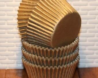 Gold Sheen Cupcake Liners (Qty 40) Gold Cupcake Liner, Gold Baking Cup, Gold Cupcake Wrappers, Gold Muffin Cups, Baking Cups, Cupcake Liners