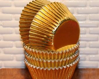 NEW - Mini Gold Foil Cupcake Liners (Qty 50)  Mini Gold Foil Baking Cup, Mini Gold Cupcake Liner, Mini Gold Baking Cups, Mini Cupcake Liners