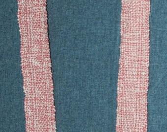 Handwoven Women's Scarf Salmon White Cotton