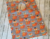"Toddler Pocket Bib   Cute Posing Fox Fabric   Like a ""dish towel"" bib only better"