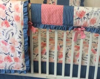 Navy Pink Nursery Etsy