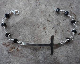 Crystal cross bracelet - FREE SHIPPING!