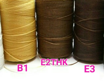 new / WAX-PWH.B1.E2THK.E3.D7 / 15meter *16.4yd *49feets - 1mm Waxed Coated Flat Polyester Strings / Waxed Cords / Waxed Threads.