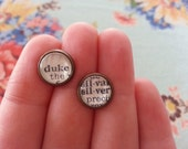 Parks & Rec Ron Swanson Earrings - 1930s Dictionary Clippings Become One of a Kind Studs! Amy Poehler Funny Subtle + Classy Present Gift