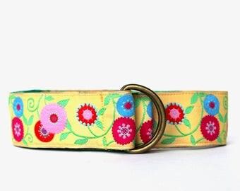 Yellow Flower Ribbon Belt