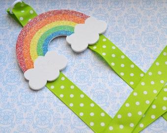 Glitter Rainbow Double-Strand Bowholder