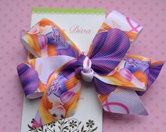 Lavender Rapunzel Classic Diva Bow