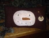 Snowman Face Pillow Tuck / PRIMITIVE Winter Decor