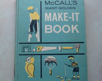 Vintage McCall's Giant Golden Make-It Book 1961 Crafts Parties Games