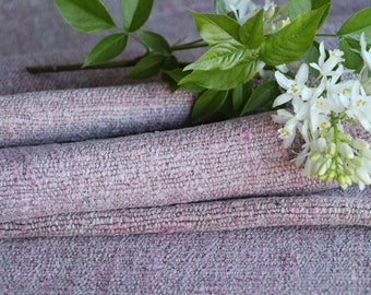 RP 633 antique handloomed lin FADED ROSE 1.85yards by 22.05inches ; upholstery fabric wool and lin cushion pillow