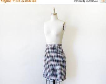 "50% OFF SALE houndstooth skirt, vintage 80s pencil skirt, 26"" waist skirt"