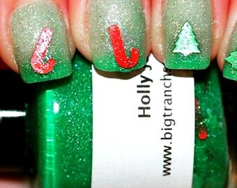 Christmas Color Changing Thermal Nail Polish - Holly Jolly - Green/Clear