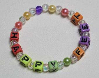 Beaded Word Bracelet