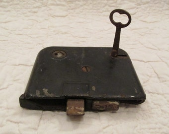 Antique Mortise Lock with Key SALE