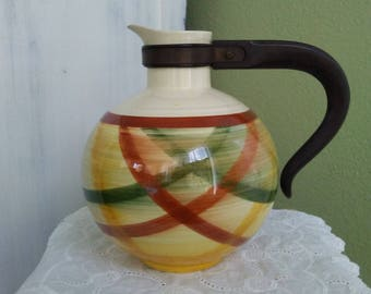 Vintage Vernon Kilns Homespun Coffee Karafe with Handle