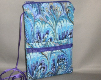 iPhone7 Purse - Passport Purse - Sling Bag - Hipster - Wallet on a String - Purple - Teal