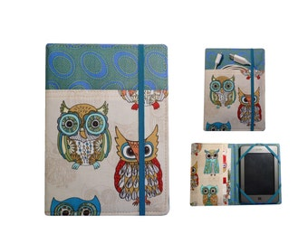 Kindle cover Hardcover, Kindle Paperwhite Cover, (New Outside Pockets), Kindle Touch Cover, Owls