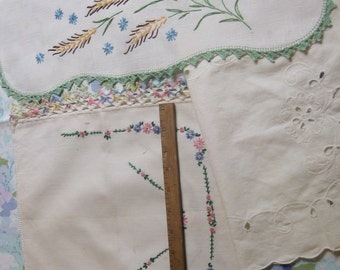 Beautiful Lot of Four Shabby Linens