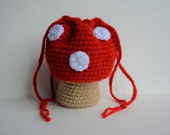 Red Mushroom Toadstool Purse