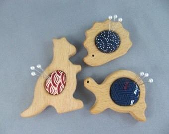 Aussie Trio of Japanese Fabric Mini Pinnies/ Pincushion/Needlekeeps/Ornament