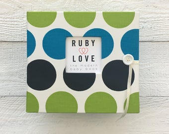 Blue and Green Bold Dot | BABY BOOK
