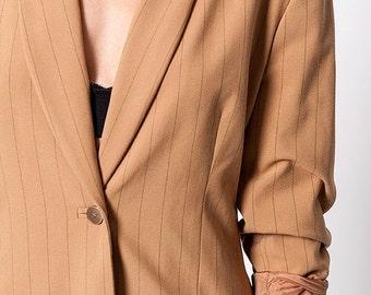 30% off SPRING SALE The Vintage Striped Blazer Jacket Skirt Suit Set